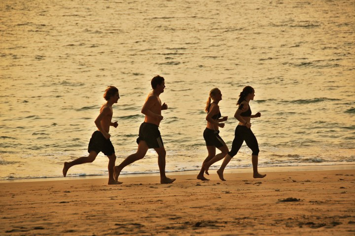 exercise-on-beach