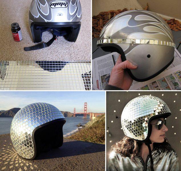 disco-ball-helmet-collage