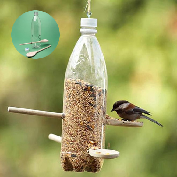 plastic-bottle-bird-feeder-collage