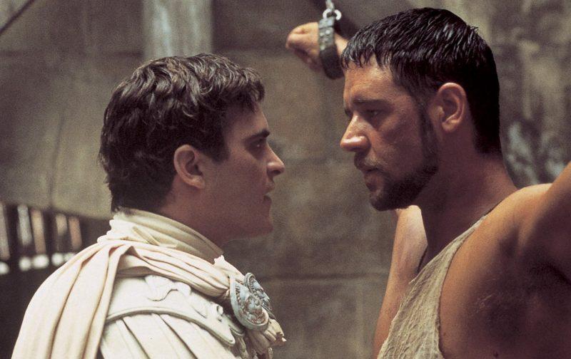 Il Gladiatore, Russell Crowe, Joaquin Phoenix